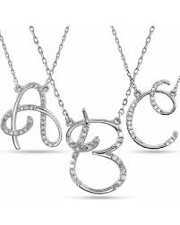 White Gold Personalized Necklace Don U0027t Miss This Deal 14k Gold Personalized Diamond Cursive