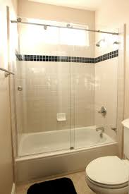 Glass Doors For Tub Shower Skyline Series Sky 3 8 Glass Three 1 Inch Rollers Frameless