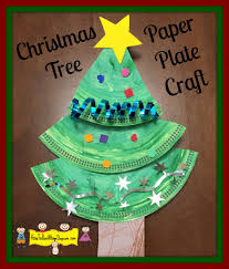 christmas tree paper plate craft trees crafts and christmas trees