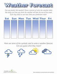 weather forecast for kids worksheet education com