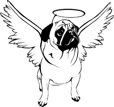 halloween coloring pages art of pug single coloring page