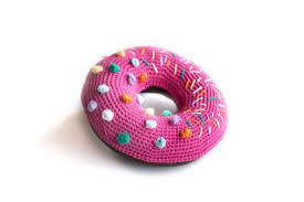 Cushion Donut Princess Bubblegum Crochet Donut Cushion U2014 Flamingpot