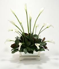silk calla lilies distinctive designs silk calla lilies and magnolia leaves in