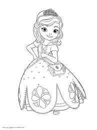 coloring pages of sofia the first