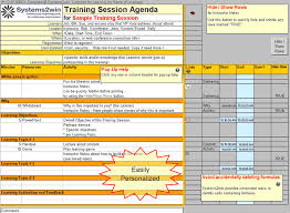 training plan template training agenda template training