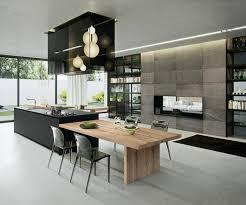 cuisine avec ilots ilot central cuisine avec table de c3 a9quip a9e lzzy co