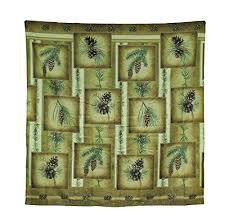 Polyester Shower Curtains Polyester Shower Curtains Tranquil Pines Rustic Fabric Patchwork