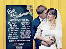 Chalkboard Wedding Programs Custom Hand Lettered Chalkboard Wedding Sign Menu Or Program By