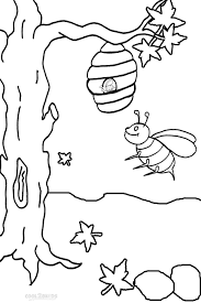 bee listening to music coloring page stock illustration with pages