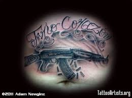gun tattoo u2013 ak 47 gun design tattooshunter com