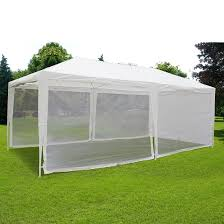 10 X 20 Shade Canopy by 10 U0027 X 20 U0027 White Screen Tent