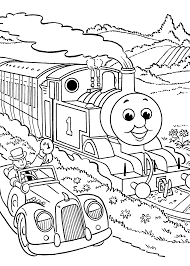 thomas friends coloring pages race kids printable free