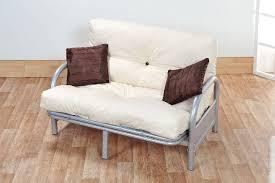 folding sofa bed frame mexico double 4ft6 tri fold silver futon sofa bed frame