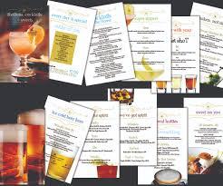 playful modern menu design for dan mulgrew by