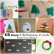 15 easy holiday cards for kids to craft crafty 2 the core diy