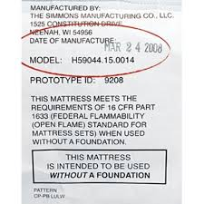 Used Crib Mattress This Mattress Is Intended To Be Used Without A Foundation