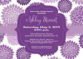 purple bridal shower invitations plumegiant com