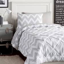 Gray Chevron Bedding Grey Zig Zag Bedding Mainstays Yellow Grey Chevron Bed In A Bag
