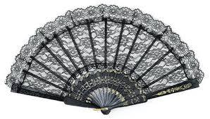 black lace fan buy lace fan 9 black