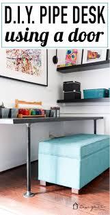 Pipe Desk Diy Diy Pipe Desk A K A The Easiest Desk Designertrapped