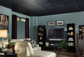 black drop ceiling spraying basement ceiling black black ceiling
