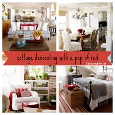 decorating with a pop of red cottage the inspired room