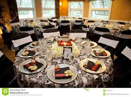 elegant setup for catered dinner royalty free stock photo image