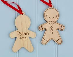 ornament gingerbread wooden ornament personalized boy or