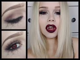 halloween vampire make up tutorial vanessa herold youtube