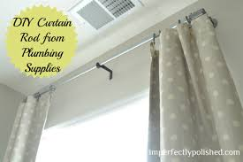 Easy Curtain Rods Diy Curtain Rod Using Plumbing Supplies