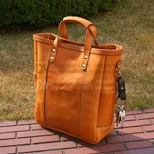 Handmade Leather Tote Bag - b 5052 diy handmade leather neutral large handbag drawing tanned