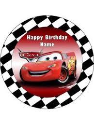 cars cake toppers cars lightning mcqueen 19cm kopykake edible icing image cake