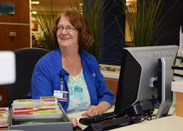 Working At The Front Desk The Day Helping Hands Former L M Workers Love Their Volunteer