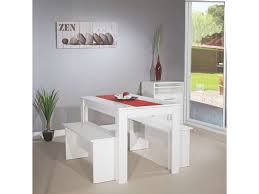 table et banc cuisine table 110 x 70 cm 2 bancs paros coloris blanc vente de ensemble
