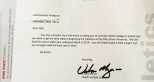 ohio state coach urban meyer sends hilarious recruiting letter to