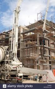 concrete pump on building site sites construction industry wet