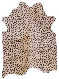 Upholstery Hides Southwestern And Western Interior Home Accents Cheetah Stenciled