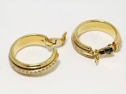 piaget earrings piaget gold diamond earrings 18k yellow pt083 tradesy