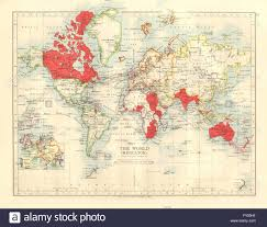 Mercator World Map by British Empire World Mercator Currents Steamship Routes