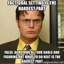 Goals Meme - fact goal setting is the hardest part false achieving all our