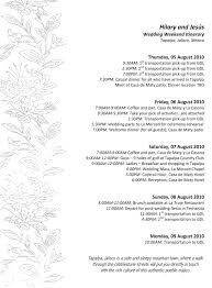 Wedding Itinerary Template For Guests 100 Wedding Itinerary For Guests Hilary U0026 Victor U0027s