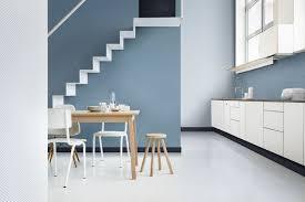 cuisine gris et bleu peinture cuisine moderne 10 couleurs tendance mezzanine loft