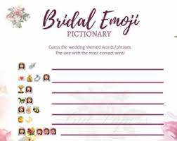 interactive bridal shower fitness wedding emoji bridal shower couples bridal