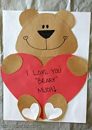 bear valentines day craft u2013 natienglish