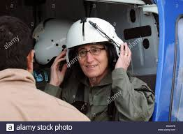 Wildfire Areas by Us Interior Secretary Sally Jewell Wears A Helmet As She Boards A