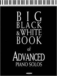 big black and white book of advanced piano solos hal leonard corp