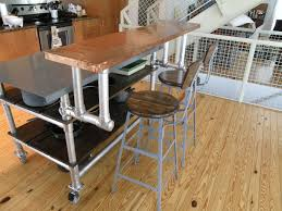 portable kitchen island with stools homemade kitchen island cart on wheels with breakfast bar counter