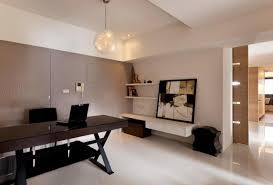 captivating modern home office design with black office table and