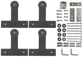 Barn Door Hangers Barn Double Door Kits With Track All Www Mappcaster Com