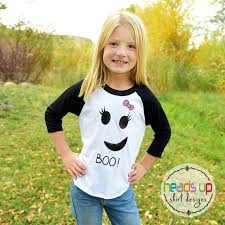 Girls Ghost Halloween Costume Halloween Raglan Shirt Ghost Toddler Ghost Halloween